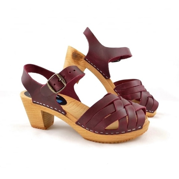 Moheda Betty Swedish Wooden Clog Sandals 39